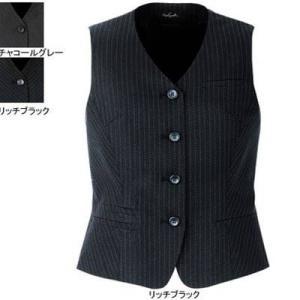ピエ V0631-99 ベスト(4ツボタン) 9号・リッチブラック|kinsyou-webshop