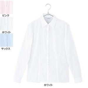 ピエ B2421-01 長袖ブラウス 11号・ホワイト|kinsyou-webshop