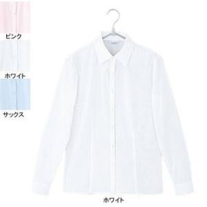 ピエ B2421-01 長袖ブラウス 13号・ホワイト|kinsyou-webshop