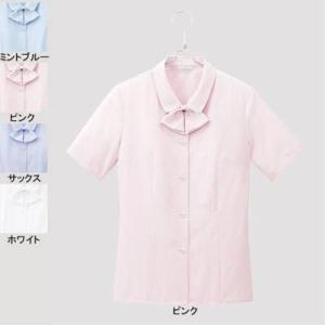 ピエ B2600-38 半袖ブラウス 11号・ピンク|kinsyou-webshop