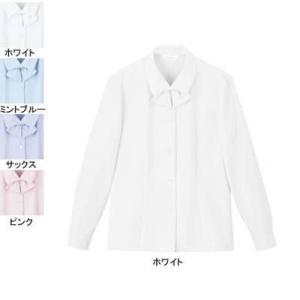 ピエ B2601-01 長袖ブラウス 19号・ホワイト|kinsyou-webshop