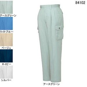 作業服 ズボン 作業着 自重堂 84102 エコ3バリューツータックカーゴパンツ W85・アースグリーン039