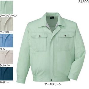 作業服 作業着 自重堂 84500 長袖ブルゾン 6L・アースグリーン039|kinsyou-webshop