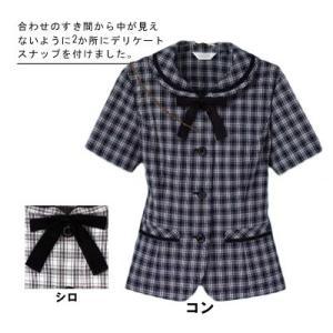 オフィスウェア 事務服 制服 ピエ L6010 オーバーブラウス 5号〜15号|kinsyou-webshop