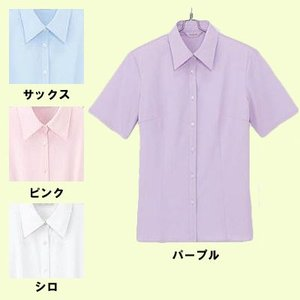 オフィスウェア 事務服 制服 ピエ B2710 半袖ブラウス 17号〜19号|kinsyou-webshop
