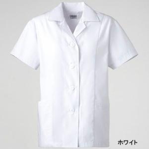 医療白衣・介護服 ソワンクレエ C250 女子衿付白衣 半袖 S〜4L|kinsyou-webshop