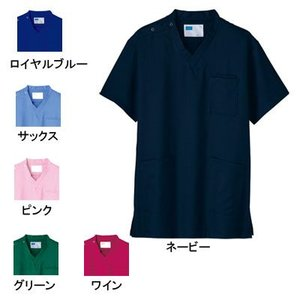 医療白衣・介護服 WHISeL 自重堂 WH11485 男女兼用スクラブ SS〜4L|kinsyou-webshop