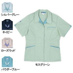 作業服 作業着 桑和(SOWA) 422 エコ女子半袖スモック S〜LL|kinsyou-webshop