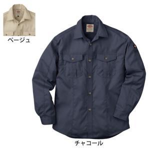 作業服 作業着 Dickies ディッキーズ D-1878 長袖ロールアップシャツ M〜3L|kinsyou-webshop