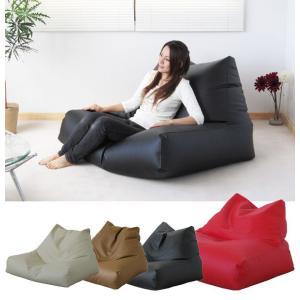 ビーズチェアーW レザー  クッション ビーズ  ビーズクッション椅子  ソファ レザー kinta