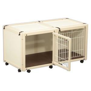 犬 ケージ 犬 ゲージ 木製 小型犬 ケージ 小型犬 サークル 室内用 キャスター付き 屋根付き「ペットケージ FR 60 S メッシュ」|kintaro-w