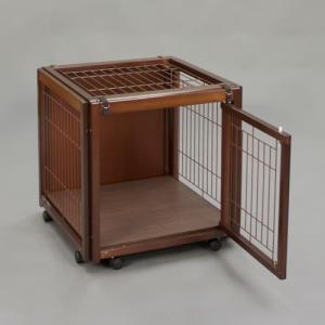犬 ケージ 犬 ゲージ 木製 小型犬 ケージ 小型犬 サークル 室内用 キャスター付き 屋根付き「ペットケージ FR 60 SS メッシュA」|kintaro-w