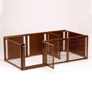 ペットサークル [ サークル プラス F60 Lp メッシュ] 木製 小型犬 サークル 多頭飼い 室内用 日本製|kintaro-w