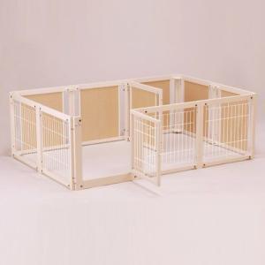 ペットサークル [ サークル プラス F 60 XLp メッシュ] 木製 サークル 多頭飼い 小型犬 室内用 日本製|kintaro-w