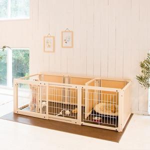 【新商品】 ペットサークル [ サークル プラス FS 60Lp メッシュ] 木製 小型犬 サークル 多頭飼い 室内用 日本製|kintaro-w