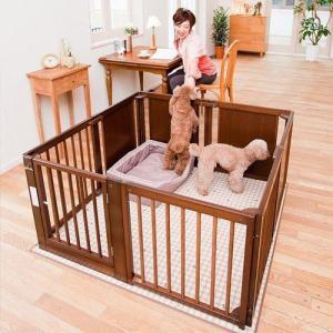ペットサークル 木製 小型犬 サークル 多頭飼い 「ペット サークル F 60XL」 kintaro-w