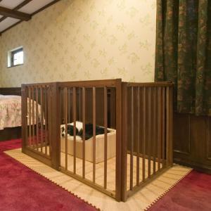 [限定セール]ペットサークル 木製 大型犬 サークル [ペット サークル F80L]|kintaro-w