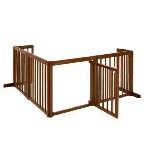 ペットゲート 木製ゲート L字型 小型犬 「コーナーゲート 60XL」 kintaro-w