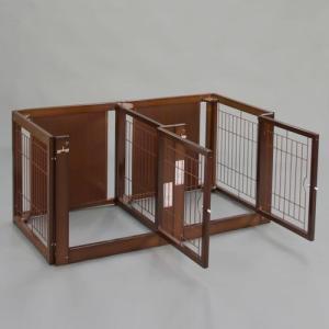 ペットサークル 木製 サークル 多頭飼い 小型犬用 「多頭飼いサークル F 60-66 メッシュ」 kintaro-w