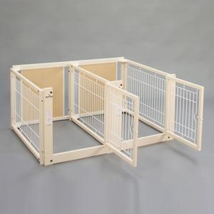 ペットサークル 木製 サークル 多頭飼い 小型犬用 「多頭飼いサークル F 60-69 メッシュ」 kintaro-w