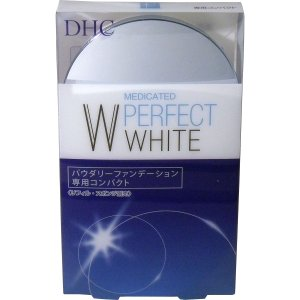 DHC 薬用美白パーフェクトホワイト パウダリーファンデーションの専用コンパクトです。 リフィルとス...