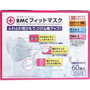 BMC フィットマスク 使い捨てサージカルマスク レディース&ジュニアサイズ 60枚入|kintarou