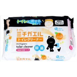 トイレに流せる厚手シート!お掃除がシアワセ運ぶよ! トイレミチガル!●Wの洗浄成分(洗剤+アルコール...