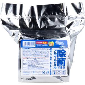 エリエール 除菌できるアルコールタオル 大容量 詰替用 400枚入|kintarou