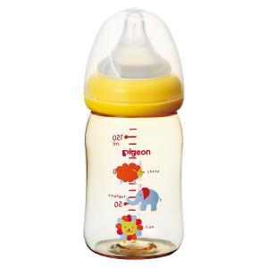 ピジョン 母乳実感哺乳びん プラスチック アニマル柄 160mL