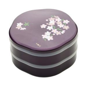 重箱 お重箱 食器 おしゃれ お正月 シール付 7.5 梅型オードブル あけぼの桜 宇野千代 紫|kintouen