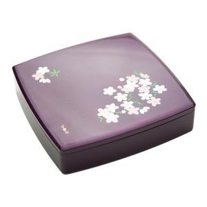 重箱 お重箱 食器 おしゃれ お正月 10.0 胴張一段オードブル あけぼの桜 宇野千代 紫|kintouen