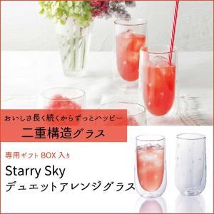 SALE 耐熱グラス 水滴がでないグラス ペア 二重構造 結婚祝い プレゼント Starry Sky kintouen