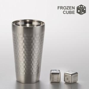 SALE タンブラー 保冷 保温 ステンレス アイスキューブ 溶けない氷 FROZEN CUBE あすつく|kintouen
