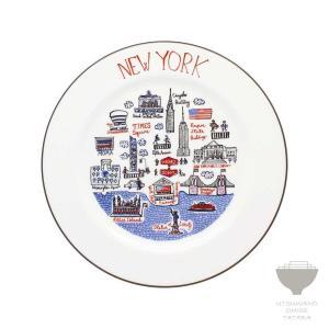 ジュリア・ガッシュ Julia GASH プレート NEW YORK ニューヨーク 専用箱入り 食器 プチギフト プレゼント ラッピング対応|kintouen