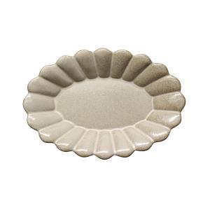 取皿 陶器 ポテリエ オーバルプレートS ベージュ おしゃれ 和食器 美濃焼 日本製