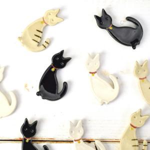 箸置き 猫 ネコ ねこ 美濃焼 食器 おしゃれ 陶器 手作り 手びねり たたら作り かわいい 3種類|kintouen