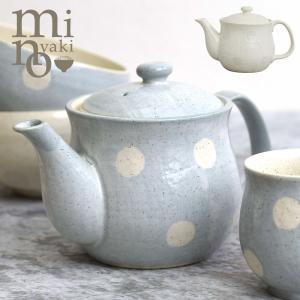 ポット ティーポット 茶器 食器 おしゃれ 茶こし付き 水玉 ドット 美濃焼 ホワイト 電子レンジ・食洗機対応 サボン 日本製 たたら|kintouen