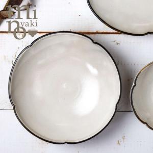 粉引 大鉢 おしゃれ 和食器 陶器 姫りんか 渕錆 美濃焼 たたら|kintouen