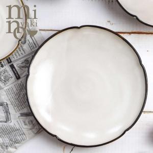 粉引 大皿 おしゃれ 和食器 陶器 姫りんか 渕錆 美濃焼 たたら|kintouen