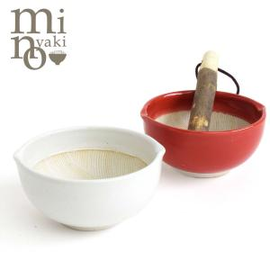 すり鉢 すりばち 赤 白 おしゃれ 食器 よく擦れる波紋櫛目型 美濃焼 高田焼 たたら|kintouen