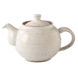 陶器 人気 ろくろ 粉引 ポット小 食器 おしゃれ 美濃焼 日本製|kintouen