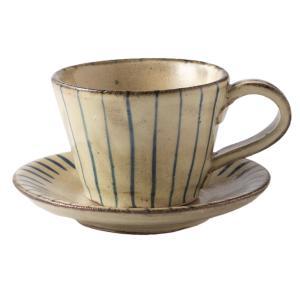 ティーカップ カップ&ソーサー 陶器 ブルーストライプC/S 食器 おしゃれ 美濃焼 日本製 kintouen