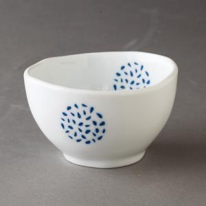 煎茶碗 青い粒丸紋 煎茶碗 食器 おしゃれ 美濃焼 日本製|kintouen