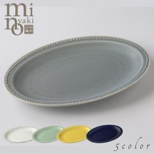 カレー皿 陶器 リムドットプレートM マット カフェ風 おしゃれ 和食器 美濃焼 日本製