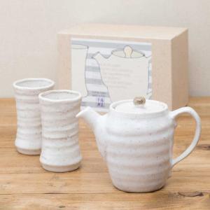 ティーセット うのはな 茶器揃え 急須 ゆのみ セット おしゃれ 陶器 食器セット 美濃焼 日本製 専用箱入り 和食器 プレゼント ラッピング対応|kintouen