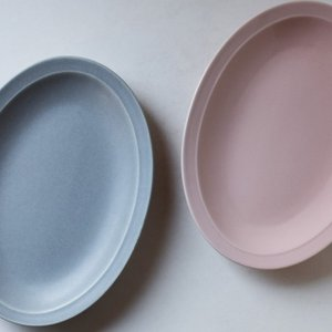 食器 カレー皿 パスタ皿 楕円皿 大皿 オーバルプレート ピンク グレー 日本製 ST-079/08...