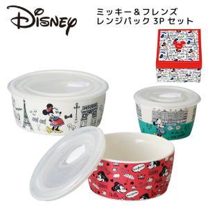 ディズニー ミッキー 食器セット おしゃれ レンジ保存容器 3点セット 結婚祝い プレゼント 誕生日 kintouen