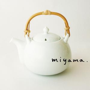 土瓶 胴穴茶こし細 食器 おしゃれ つる付き 400cc ひょうたんをモチーフに制作 縁起物 白磁 フクベ|kintouen