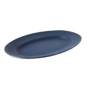 和食器 大皿 そぎ オーバルプレート 黒紺 おしゃれ 美濃焼 日本製