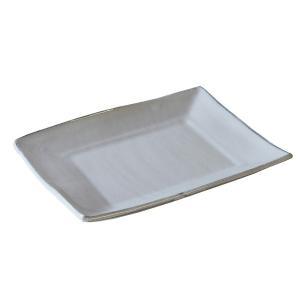 【長角皿 粉引】 サイズ:本体サイズ:約20.5cm×15.8cm×2.3cm 素材:陶器  電子レ...